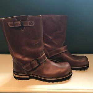 John Fluevog Baby Ruth brown leather boots 11 9
